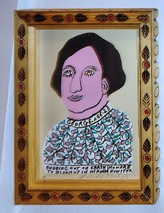 Artwork by Howard Finster available at Chicago Art Leasing: www.chicagoartleasing.com