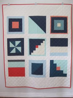 Signal flags quilt @ brigitgail.com Maybe convert to quilt as to go and do the sashing between blocks.