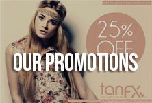 Tan FX features monthly promotions, specials and sales