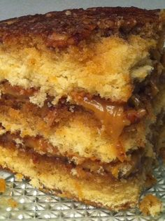 Pecan Pie Cake - {{Another pinner said..}} .. Ok people,, you've been warned! This cake will make a grown man drop to his knees, birds will sing, and you'll experience a party in your mouth :D