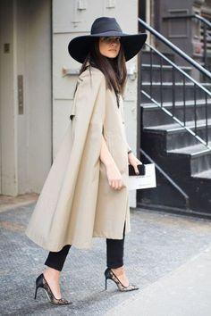 Beautiful Cape/Coat. A classy way to wear a big hat.