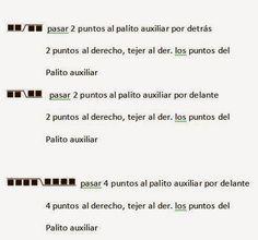 Silvana Тим - Ткань с двумя иглами, вязание крючком, Рецепты: Тканые две иглы # 22 - Причина или точка Buho