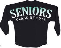 Seniors class of 2016 blue pom print J america Long sleeve shirt women Long sleeve shirt Front and back Game Day Jersey graduation top shirt blue pom print  Rounded bottom waist Oversized cut #pom #longsleeve #graduation #senioryear #seniors