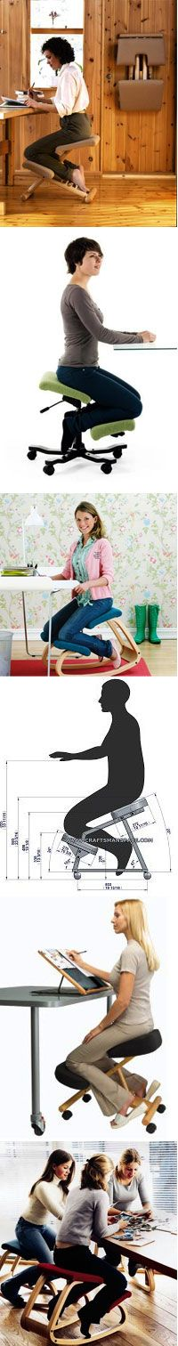 Kneeling chairs help to improve the ergonomics of your home office. Regain your body's natural posture.