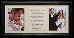 Amazon.com - 7x15 MY WALK WITH DAD Poetry & Photo ~ BLACK Frame Cream Mat ~ GIFT for FATHER of the BRIDE - Father Daughter Picture Frame