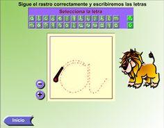 """Grafomotricidad """"SIGUE EL RASTRO DE LAS LETRAS"""" Para aprender las letras"""