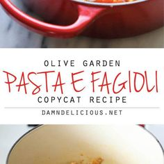 An Olive Garden copycat recipe that's wonderfully hearty and comforting, except it tastes 100x better than the restaurant-version!