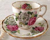 "Royal Albert China Tea Cup and Saucer ""Evening Rhapsody"""