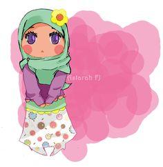 Chibi Muslim Girl in Hijab Cartoon Fan, Cartoon Images, Muslim Images, Hijab Drawing, Islamic Cartoon, Hijab Cartoon, Cartoon Sketches, Islamic Art, Islamic Quotes
