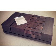 MSTRF // ABACI Series // Modern Abstract Walnut Coffee by MSTRF, $2235.00