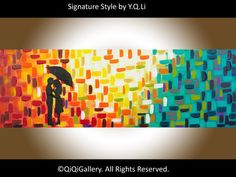 Romantic Painting Original Abstract Painting  by QiQiGallery, $225.00