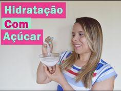 Hidratação Com Açúcar - Cabelo macio e brilhante ♥ - YouTube