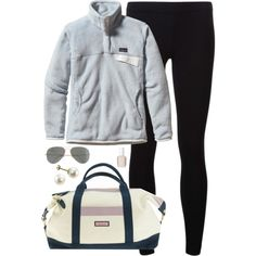 on the road by classically-preppy on Polyvore featuring Patagonia, James Perse, Vineyard Vines, J.Crew and Essie