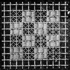 FIG. 673. GROUND WORKED IN DARNING AND LOOP STITCH.