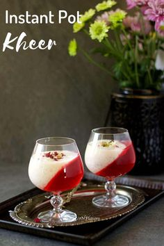 This Instant Pot Kheer is your favourite old fashioned and classic Indian Rice pudding recipe now made easy!! Find how to make this royal Indian desserts using condensed milk in a step by step format with many variations and tips to make the best payasam or kheer. Fancy Desserts, Indian Desserts, Indian Food Recipes, Diwali Recipes, Pudding Recipes, Fruit Recipes, Dessert Recipes, Baking Recipes, Indian Rice Pudding