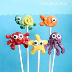 How to make easy sea creature candy pops
