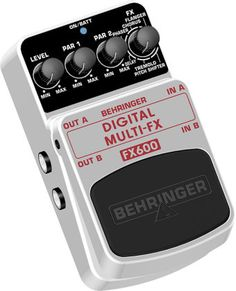 Behringer FX600 Digital Stereo Multi-Effects Pedal: With seven guitar effects -- including tremolo, phaser, and pitch shifting -- packed into one compact stompbox, the Behringer FX600 is a versatile tool.