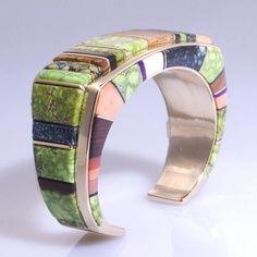 Wes Willie, Navajo, multi stone bracelet