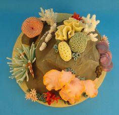 Ocean cake Aquarium Cake, Ocean Cakes, Nautical Cake, Fondant, Food Cakes, Gum Paste, Candy