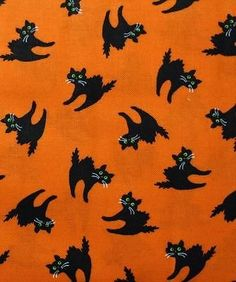 By the Yard Up to Cotton Craft Fabrics Cotton Crafts, Fabric Crafts, Cat Fabric, Halloween Fabric, Fat Quarters, Superhero Logos, Black Cats, Sewing, Ebay