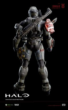 3A x HALO Emile A-239 Spartan-III hits www.bambalandstore.com on August 30th, 9:00AM Hong Kong time for 220USD. Figure stands 13.5 inches tall. #Halo #HaloReach #Spartan #Gaming #Collectibles #Bambalandstore Odst Halo, Halo Cosplay, First Person Shooter Games, Halo Armor, Tactical Armor, Halo Master Chief, Halo Game, Halo Reach, Gears Of War