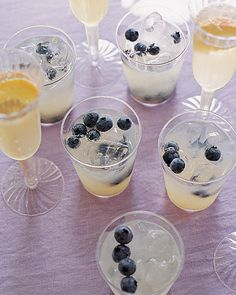 Lemonade with Blueberries - Martha Stewart Recipes