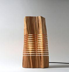 Reclaimed Wood Sculpture Illuminated Art by SplitGrain on Etsy