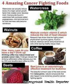Cancer--foods my mom swears by