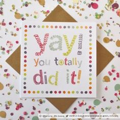 Send a message of congratulations with this bold and bright design, and celebrate a special achievement!