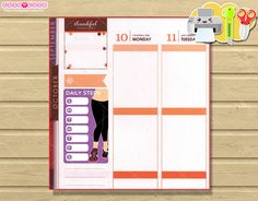 Daily Steps Printable Planner stickers for Erin by designby2