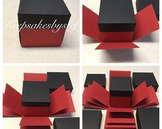 DIY Explosion Box Exploding Box Solid colors 5 4 3 layer box with lids You pick your own colors Çocuk Odası Cute Birthday Gift, Friend Birthday Gifts, Birthday Diy, Birthday Presents, Happy Birthday, Valentines Bricolage, Valentines Diy, Diy Gift Box, Diy Box