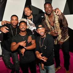 Michael B Jordan and friends. Handsome Black Men, My Black Is Beautiful, Beautiful Men, Jackie Robinson, James Brown, Carolina Do Sul, Michael Bakari Jordan, Black King And Queen, Bae