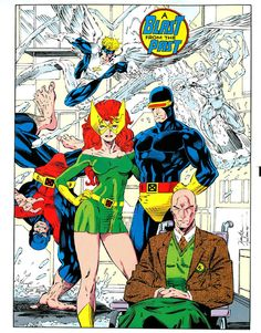 Original X-Men by Jim Lee - This was my favorite of the centerfolds offered in X-Men variants. Jean Grey looks amazing in this image, I'm pretty sure it took me years to discover the other X-Men were even there. Comic Book Artists, Comic Book Characters, Marvel Characters, Comic Artist, Comic Character, Comic Books Art, Disney Marvel, Hq Marvel, Marvel Comics Art