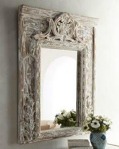 Beautiful Detailed Carved Mirror