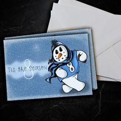 Tennessee Titans Marcus Mariota Snowman Christmas Card 5 Pack