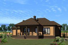 Проект одноэтажного дома, 189,29м2 | Проекты домов и коттеджей Story House, Gazebo, Exterior, Outdoor Structures, Cabin, House Design, Mansions, House Styles, Outdoor Decor