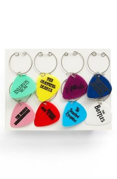Wink 'Retro Music' Wine Charms (Set of 8) available at #Nordstrom