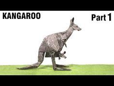 Origami Kangaroo tutorial (Gen Hagiwara) Part 1 折り紙 カンガルー оригами кенгуру canguro - YouTube