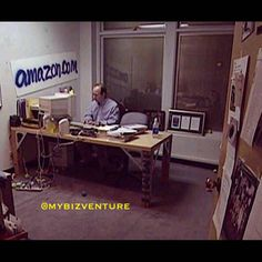 Pic 📸of Jeff Bezos circa 1999. Think about this the next time you feel you can't do something. Start from nothing, stop for nothing. #inspiration #mbvsites #mybizventure #mbvdigital #amazon #keepgrinding #neverquit