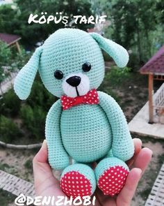 Elişi Deryası Creations Crochet Animal Patterns, Crochet Patterns Amigurumi, Stuffed Animal Patterns, Crochet Animals, Dinosaur Stuffed Animal, Amigurumi Giraffe, Amigurumi Doll, Crochet Towel, Bunny Toys