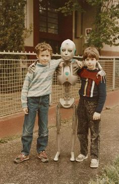 Android with two little boys