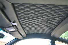 Diamond work on the roof panels Car Interior Upholstery, Boat Upholstery, Automotive Upholstery, Custom Car Interior, Truck Interior, Interior Door, Audi Tt, Ford Gt, Porsche 356