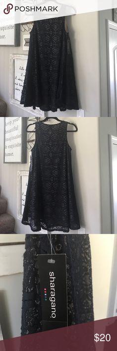 NWT Sharagano lace swing dress Beautiful, never worn lace swing dress Sharagano Dresses