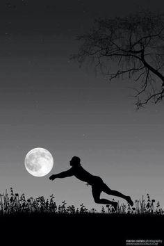 Moon beach volleyball