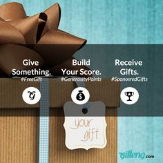 1. Give away things you no longer need 2. Build you generosity score 3. Request gifts #gifteng #FreeGift #FreeStuff www.gifteng.com