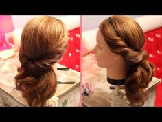 Причёска с повязкой - YouTube