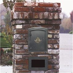 Utilizing our extra brick (??) ... Qualarc Manchester Column Mounted Mailbox w/ Decorative Accent