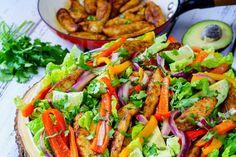 Spicy fajita veggies