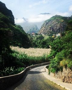 Pretty road on the island of Santo Antao, Cape Verde #Kaapverdie