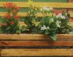 Cachepot 37 x 14 x 10 cm, com verniz carvalho.